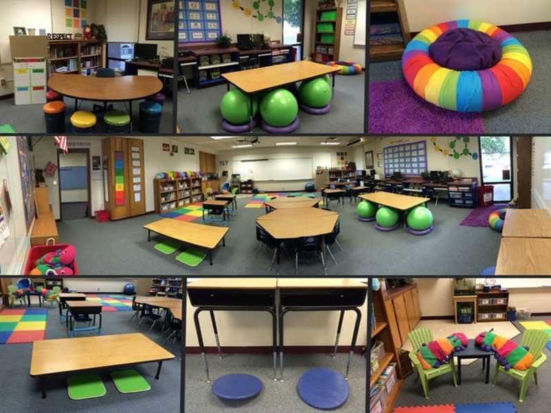 """Innovative Preschool Classroom Design ~ Découvrez le concept du """"flexible seating ou """"classe"""